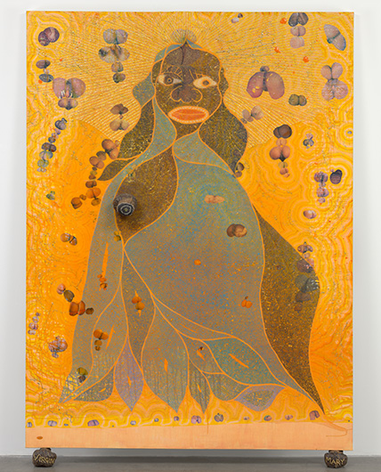 Sensation 1997: Chris Ofili-La Virgen Santa María-Virgen negra-The Holy Virgin Mary