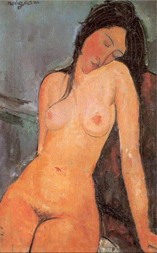 Amedeo Modigliani, Mujer desnuda, 1916 (sentada)