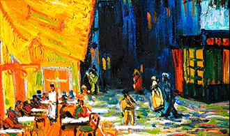 Van Gogh - Cafe la nuit - Terraza de café por la noche - Postimpresionismo - La Bohemia de París