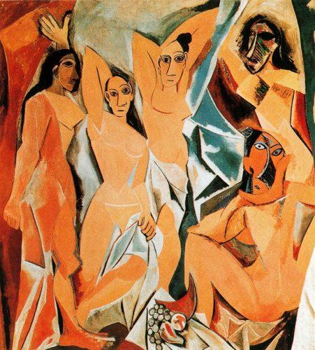Picasso, Cubismo, las Señoritas de Avignon 1907