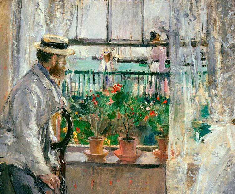 Impresionismo- Berthe Morisot- Su marido Eugene Manet en la isla de Wight