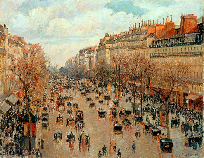 Impresionismo-Camille Pissarro-Boulevard Montmartre