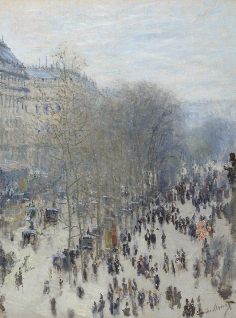 Impresionismo-Claude Monet-Boulevard des Capucines-Gente paseando