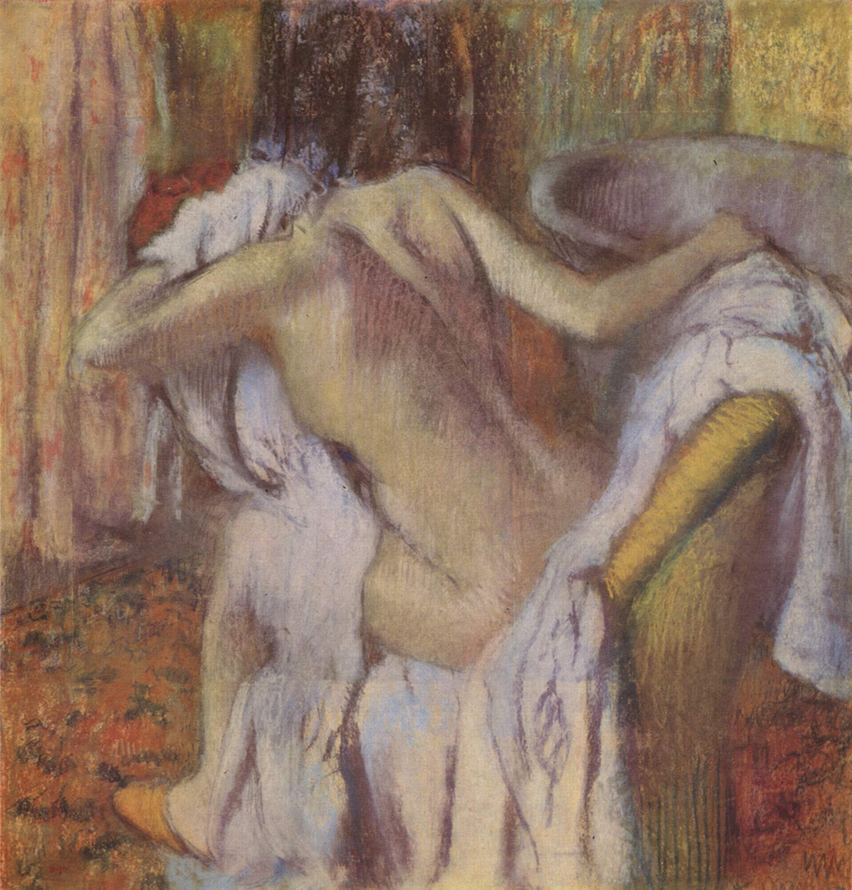 Impresionismo-Edgar Degas-Después del baño-Mujer secándose