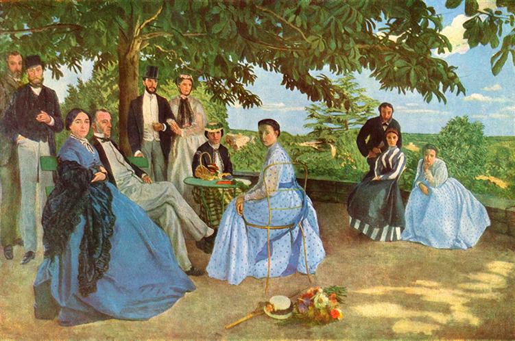 Impresionismo-Fréderic Bazille-Su familia en el jardín
