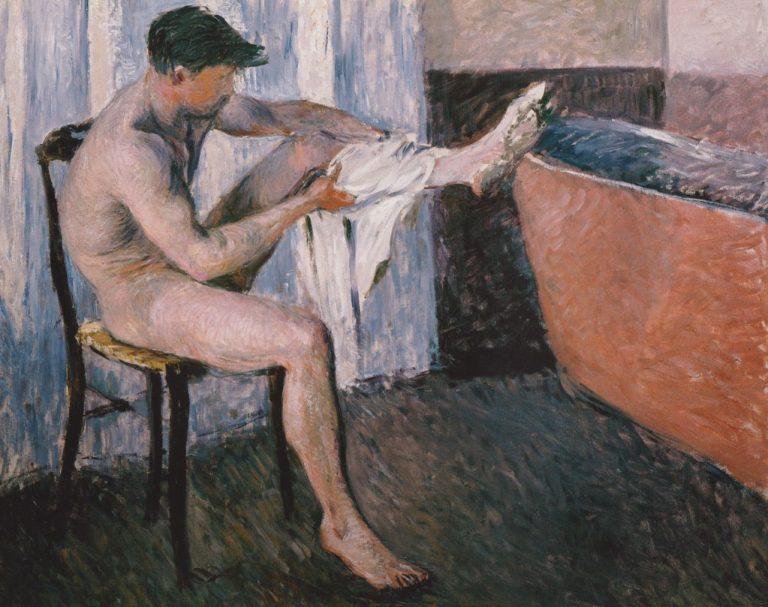 Impresionismo-Gustave Caillebotte´Hombre secándose con una toalla y pie en la bañera