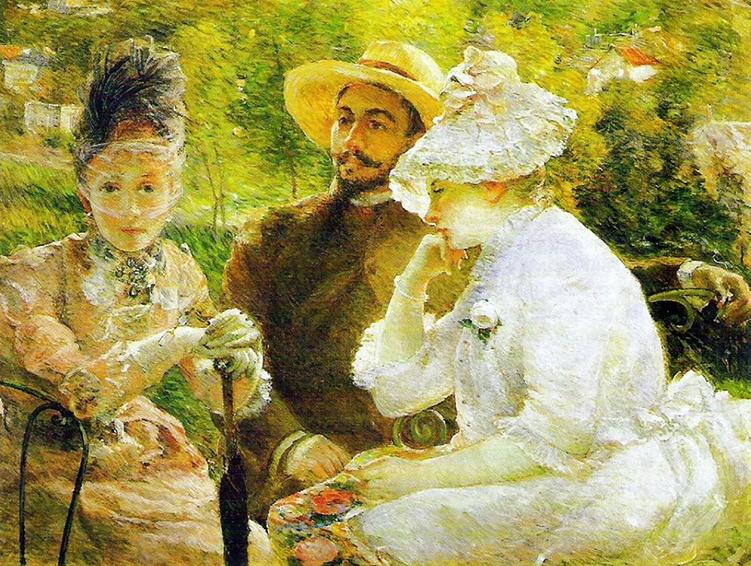 Impresionismo-Marie Bracquemond-En la terraza de Sevres