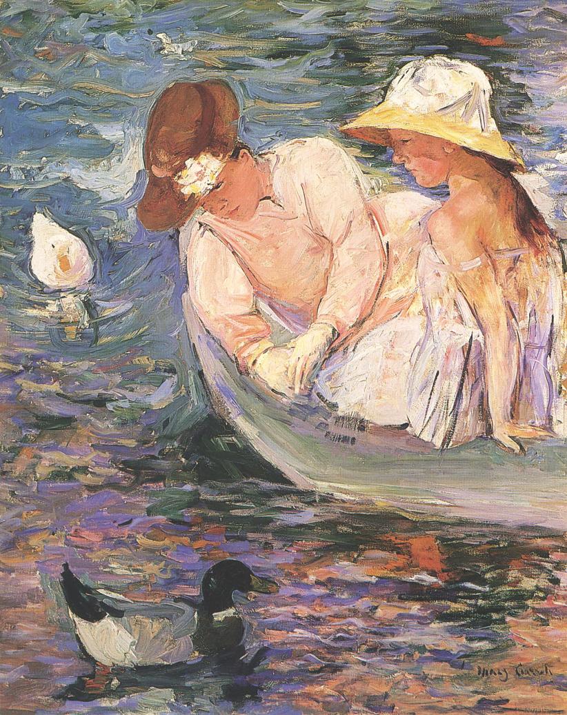 Impresionismo-Mary Cassatt-Verano-Dos mujeres en una barca