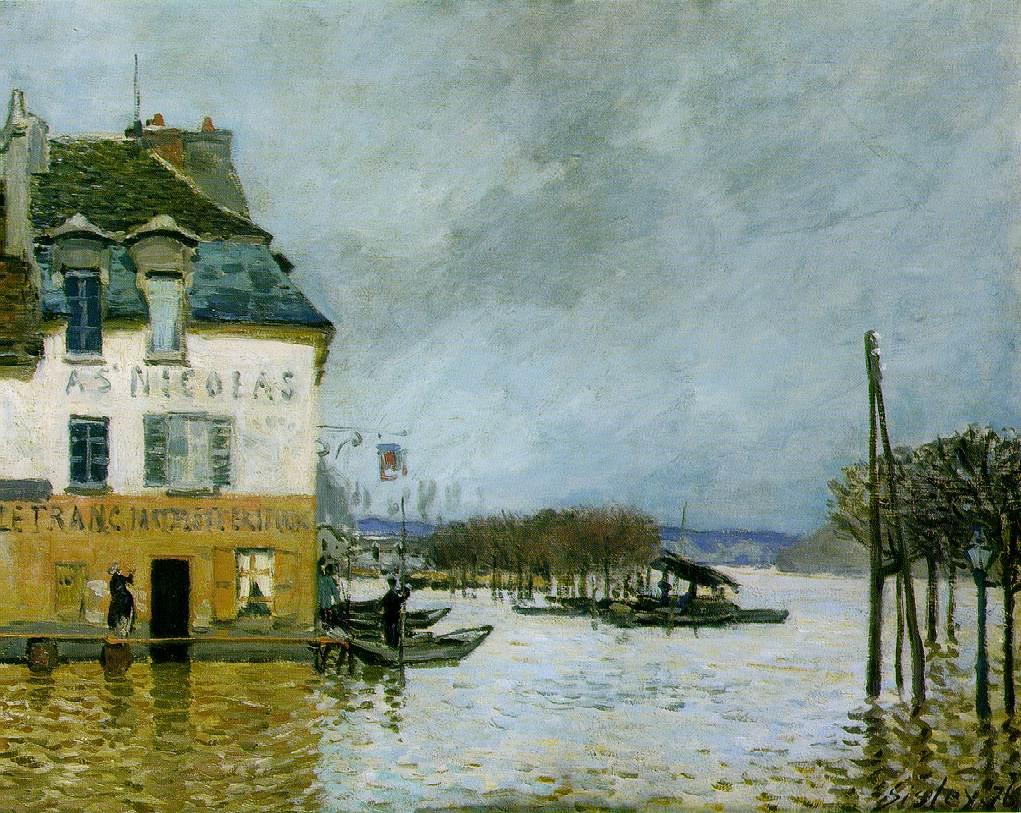 Impresionismo-Alfred Sisley-Inundación