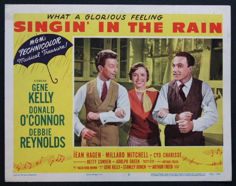 Cartel Cantando bajo la lluvia