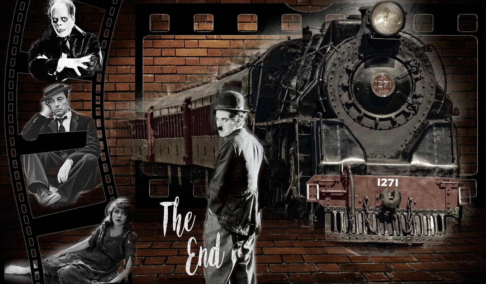 Homenaje al Cine Mudo- Buster Keaton, Mary Pickford, Nosferatur, Charles Chaplin-Charlot. Tren. Loco Mundo Arte y Bohemia