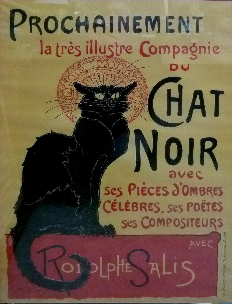 Cartel Le Chat Noir, El gato negro, Montmartre- París
