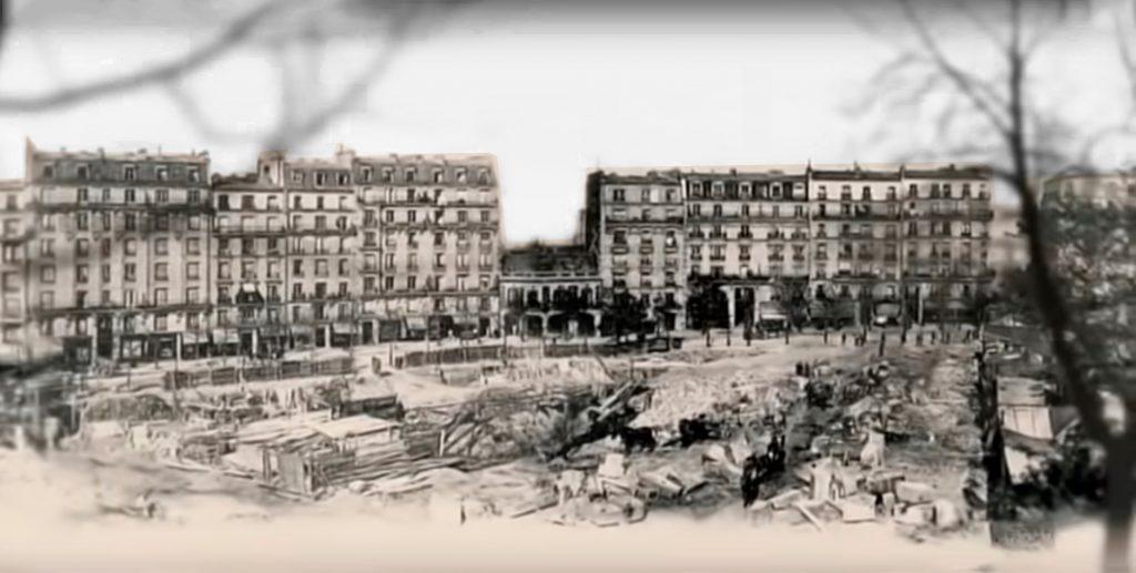 Montmartre-París-1889-1900 edificios y descampado