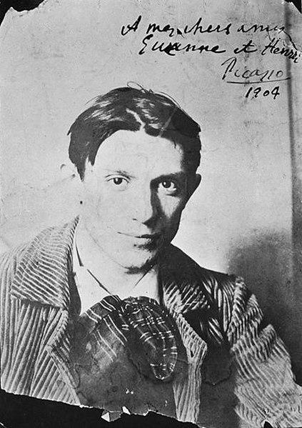 Pablo_Picasso_1904_París. Fotografiado por Ricard Canals i Llambí