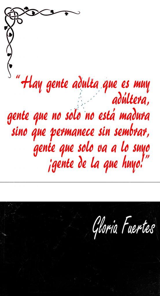 Poema Gloria Fuertes Gente de la que huyo