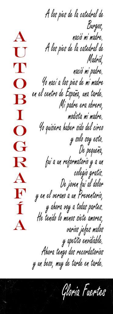 Poema Gloria Fuertes Autobiografía