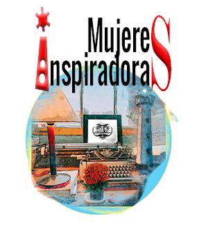 Mujeres inspiradoras collage imagen de un faro, máquina de escribir e imagen Loco Mundo Arte y Bohemia