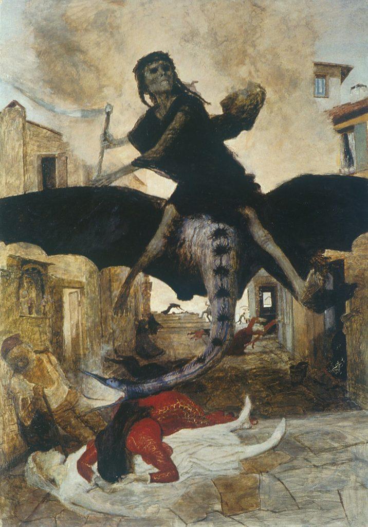La Plaga por Arnold Bocklin. 1898