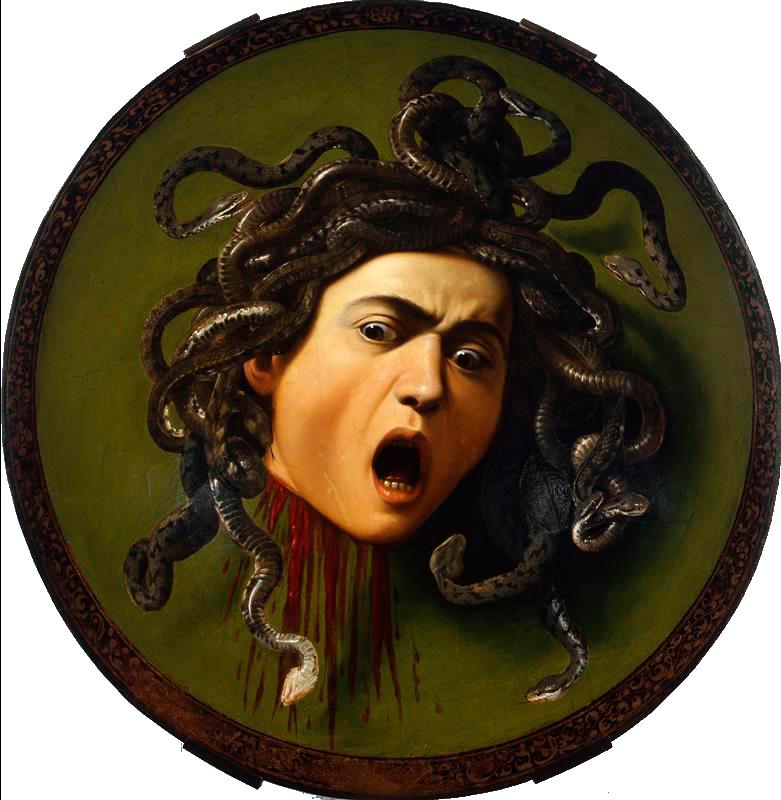 Medusa por Caravaggio. 1597