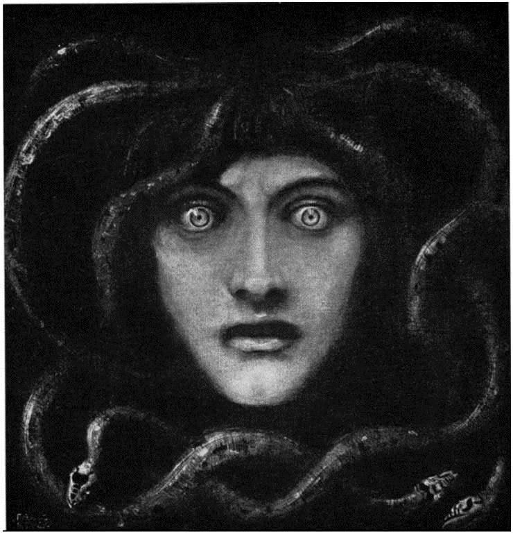 Medusa por Franz von Stuck. 1892