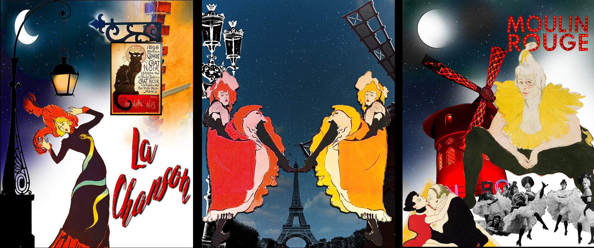 Bailarinas y Cantantes de Montmartre en la Bohemia de París. Loco Mundo Arte y Bohemia.