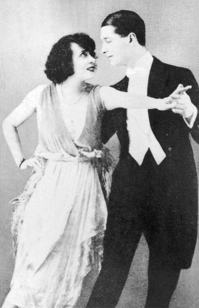 Mistinguett y Maurice Chevalier. Bailarines París Belle Époque