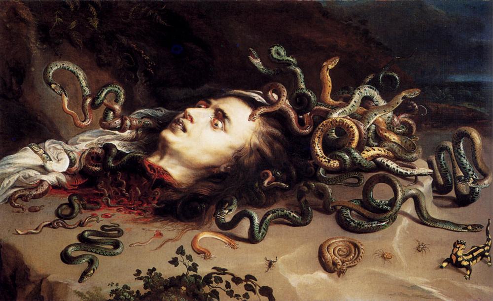 Cabeza de Medusa de Rubens. 1618
