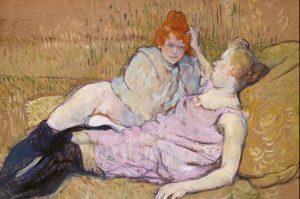 Prostitutas hablando. Serie Elles. Toulouse Lautrec