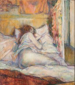 Toulouse Lautrec. Prostituta en la cama.