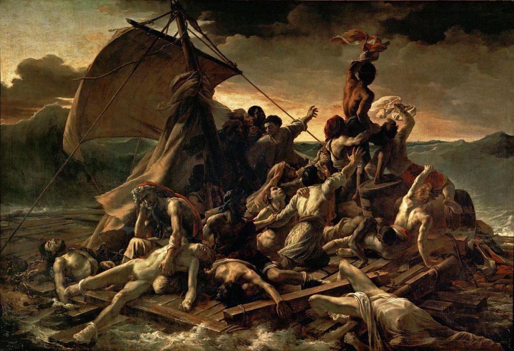 La balsa de la Medusa de Theodore Gericault. 1819