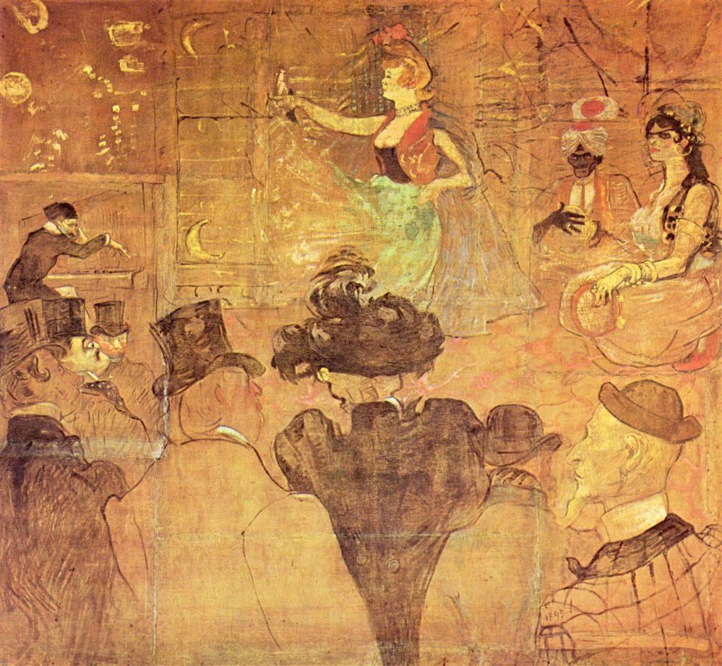 "Panel de la Barraca de la Goulue pintada por Toulouse Lautrec.. ""La danza morisca"""