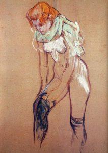 Toulouse Lautrec. Mujer poniéndose las medias