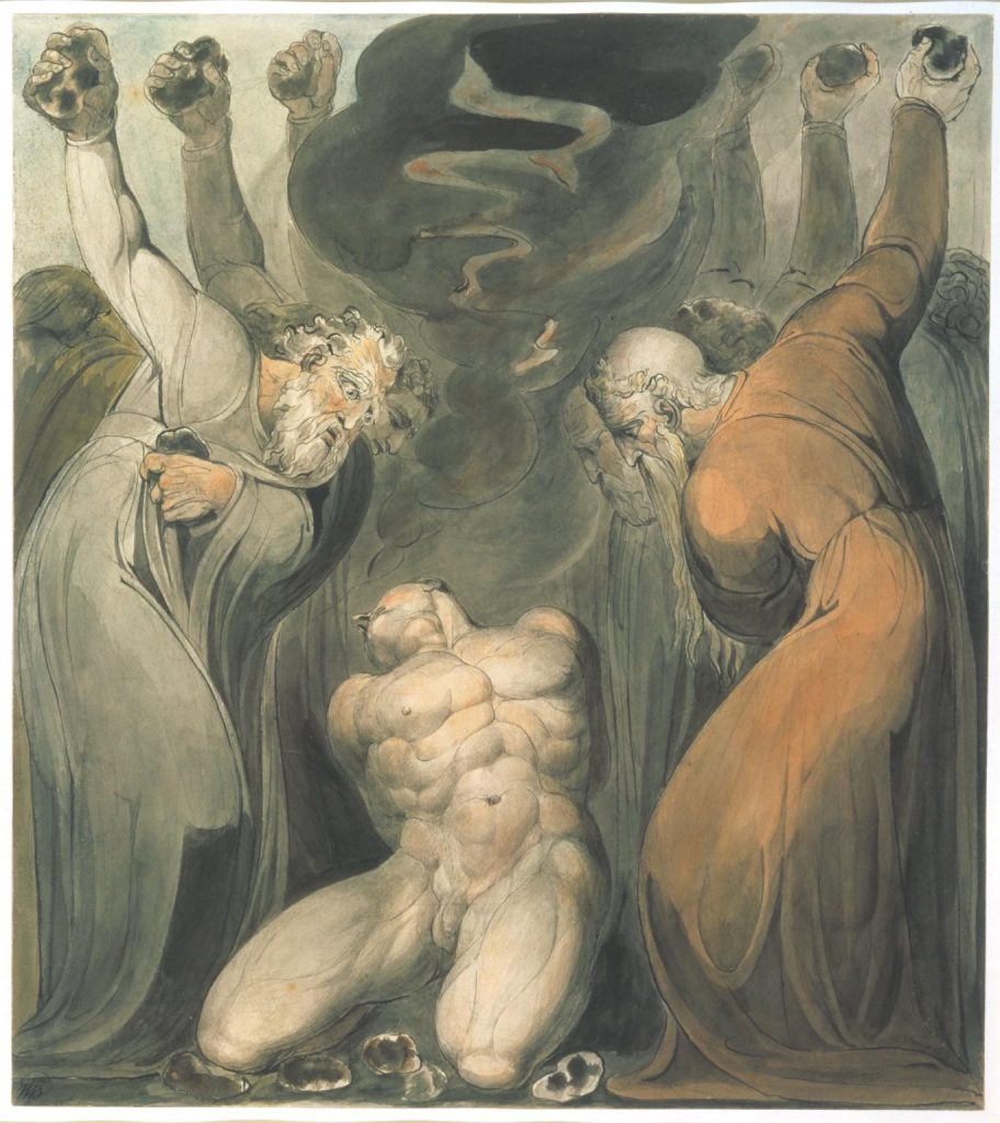El blasfemo de William Blake. 1800