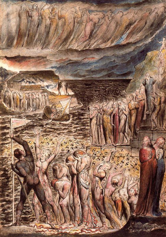 Infierno - Ilustración de la Divina Comedia de Dante por William Blake