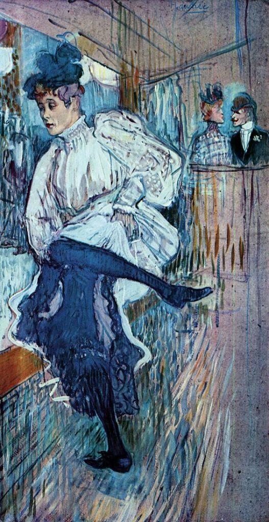 Jean Avril bailando por Toulouse Lautrec. 1892