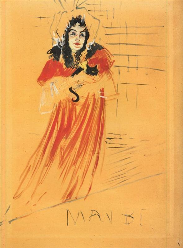 May Belfort. por Toulouse Lautrec, 1895