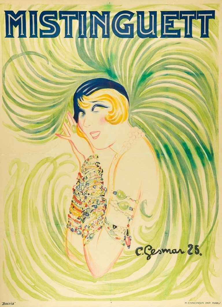 Mistinguett- art deco, por Charles Gesmar