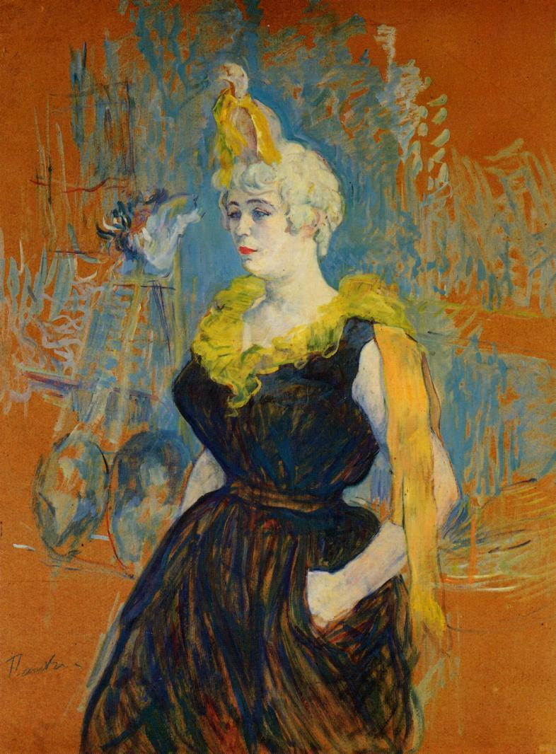 La payasa Cha-U-Kao. Por Toulouse Lautrec. 1895