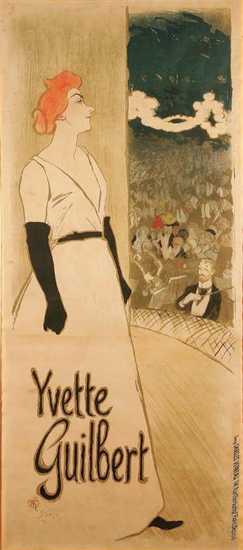 Yvette Guilbert por Theophile Alexander Steinlen 1894