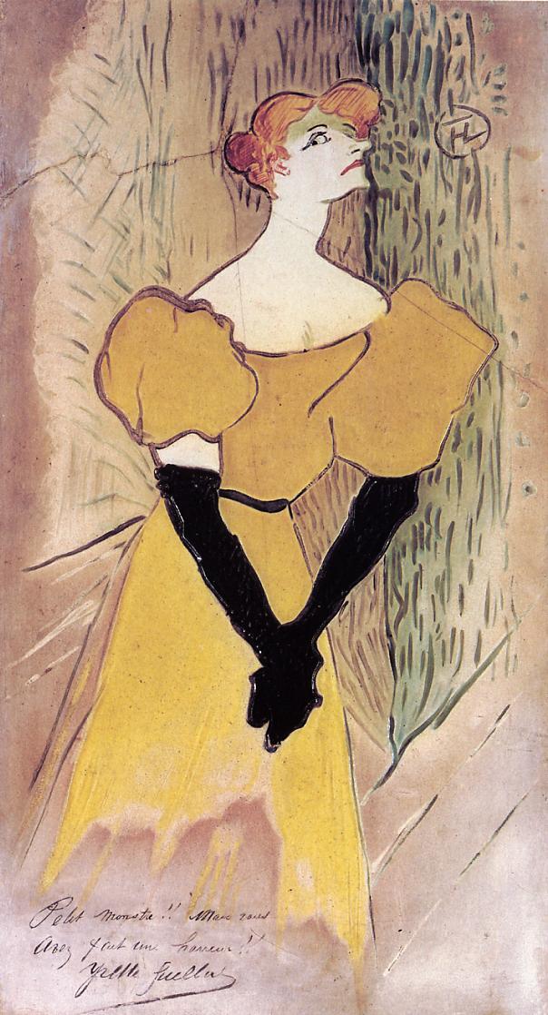 Yvette Guilbert. Toulouse Lautrec, 1895