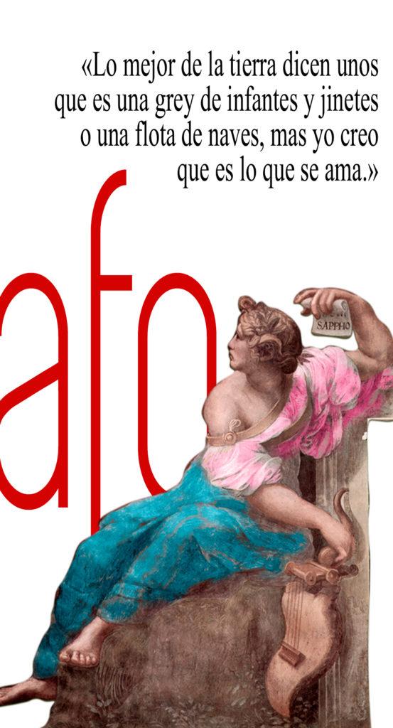 Imagen de Safo de Rafael con un verso