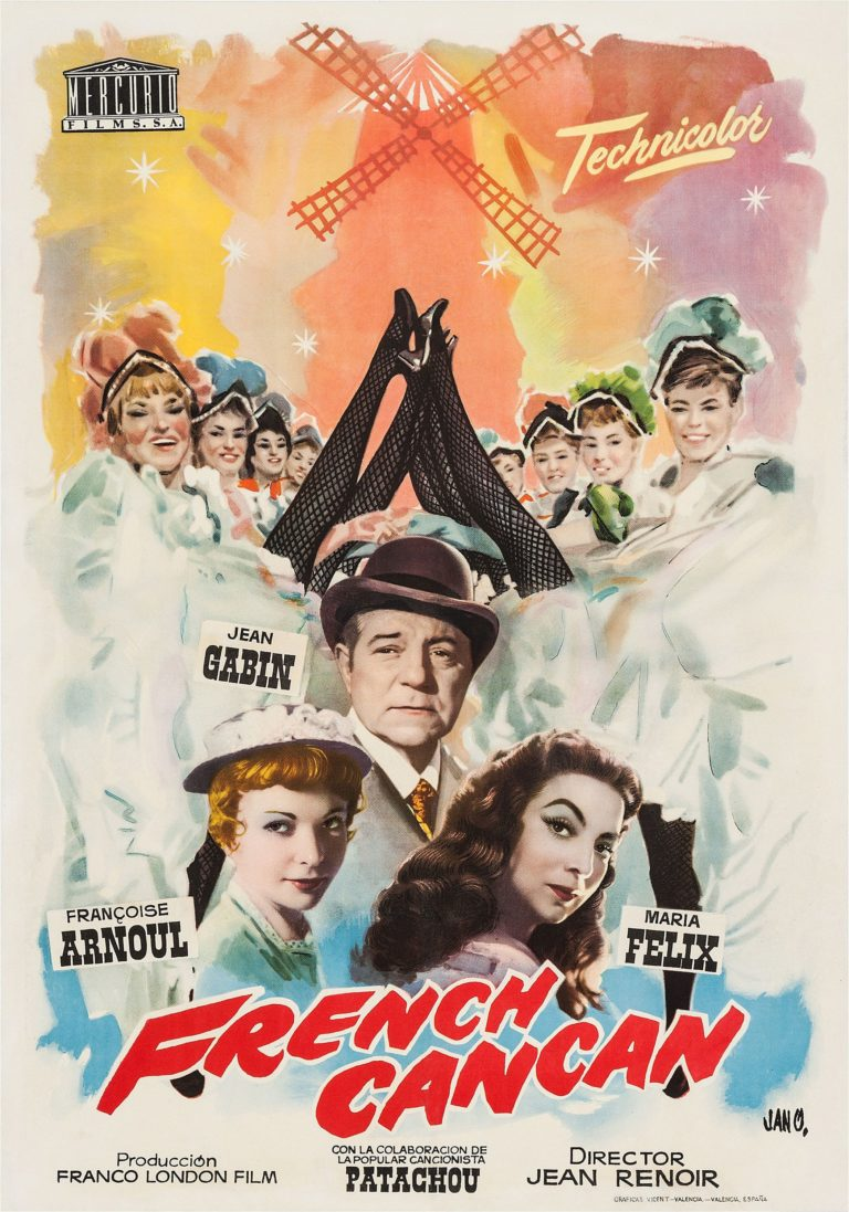 French Cancan, póster de la película de Jean Renoir