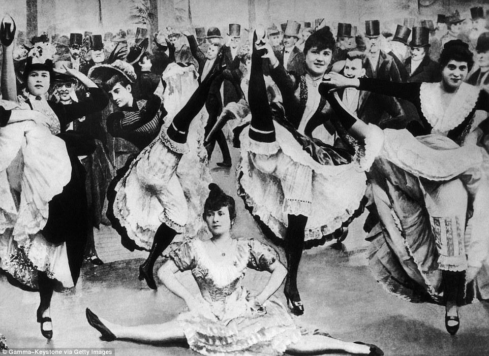 Cabaret Moulin Rouge con La Goulue y otras bailarinas