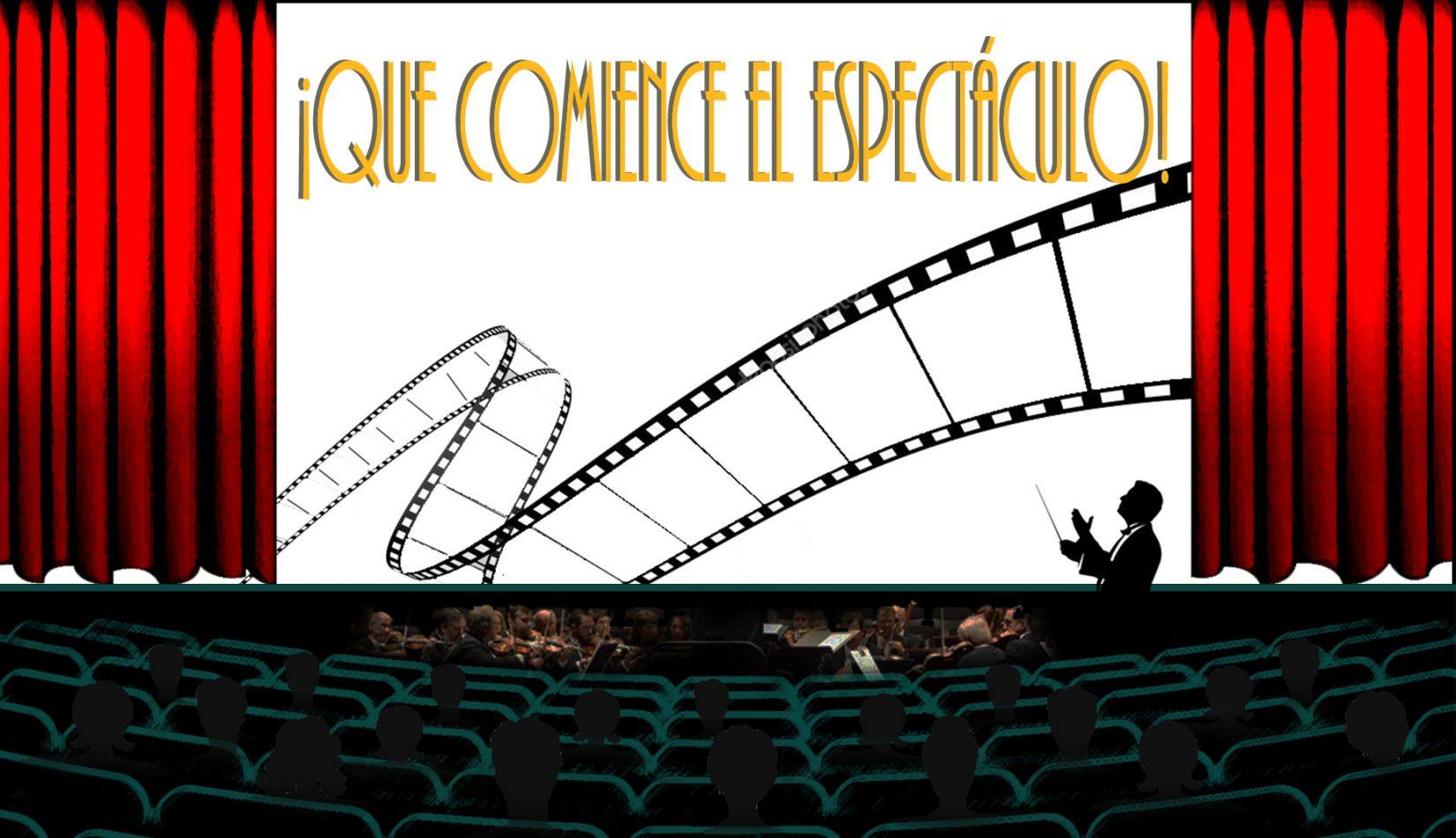 Sala de cine con telón abierto. Que comience el espectáculo. Loco Mundo Arte y Bohemia