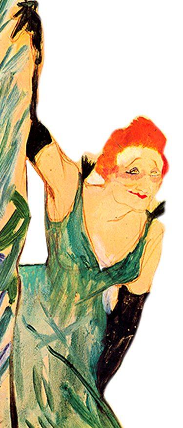 Toulouse Lautrec - Yvette Guilbert - La Bohemia de París - Loco Mundo Arte y Bohemia